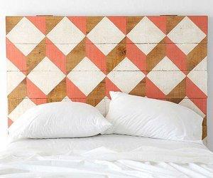 headboard, bed, and diy image