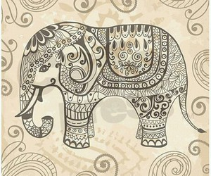 elephant, animal, and drawing image