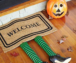 Halloween, pumpkin, and welcome image