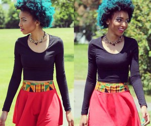 Afro, dyed, and cute image