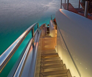 luxury, yacht, and ocean image