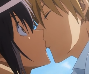 anime, kiss, and misaki image
