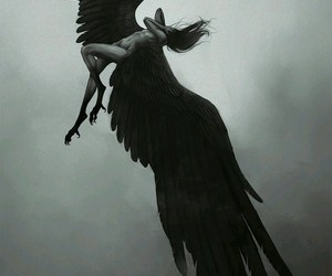angel and black image