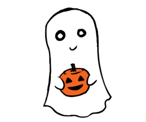 ghost, Halloween, and pumpkin image