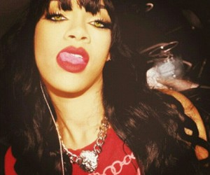rihanna, red, and swag image