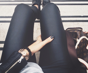 black, leather, and nails image