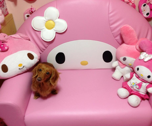 my melody, pink, and puppy image