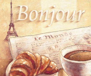 coffee, breakfast, and croissant image