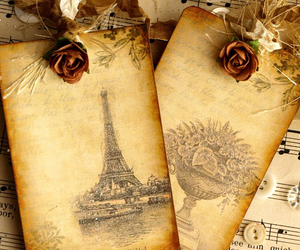 paris, vintage, and flowers image