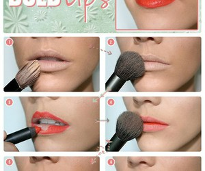 make up and red lips image