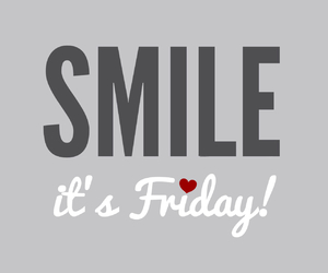 friday, smile, and weekend image