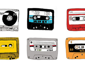 cassette, music, and tape image