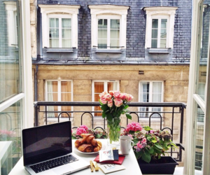 flowers, paris, and breakfast image