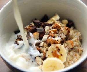 food, breakfast, and banana image