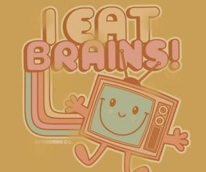 brain, tv, and funny image