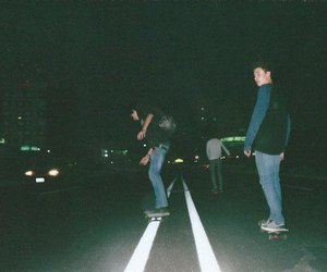 grunge, boy, and night image
