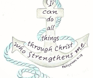 anchor, Christ, and strength image