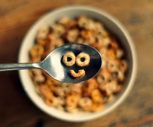 smile, breakfast, and cereal image