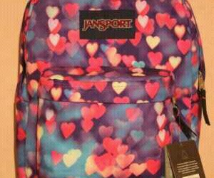 awesome, heart, and jansport image