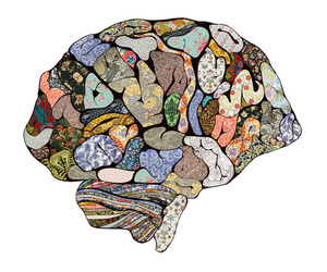 brain, pattern, and quilt image