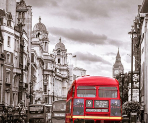 bus, london, and red image