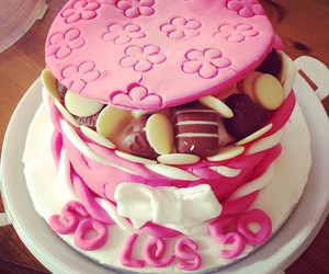 cake, happy, and pink image