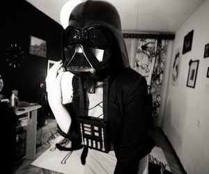 dark, darth vader, and forever image
