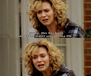 one tree hill, peyton sawyer, and text image