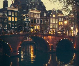 amsterdam, light, and bridge image