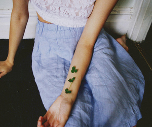 girl, clover, and photography image