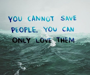 ocean, qoute, and save image