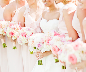 pink, wedding, and flowers image