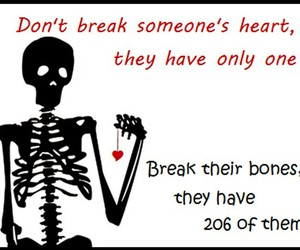 heart, bones, and funny image