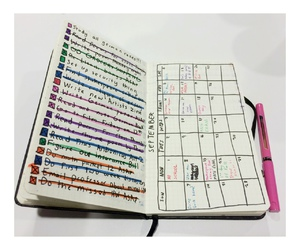 colours, planner, and notes image