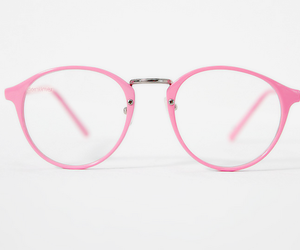 glasses, pink, and girly image