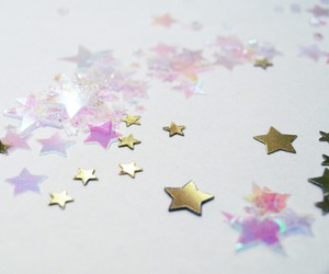 gold, sparkle, and stars image