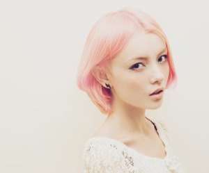 girl, pink hair, and pretty image