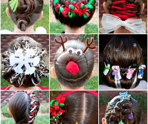 diy, hairstyle, and christmas image