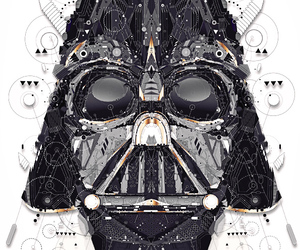 starwars, art, and darth vader image