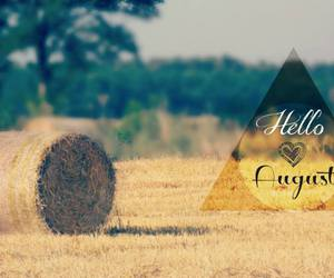 August, hello, and month image