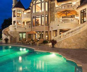 house, luxury, and pool image