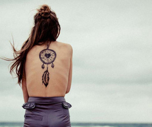 back, dreamcatcher, and tattoo image