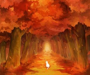 animals, art, and autumn image