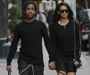 Chanel Iman, asap rocky, and couple image