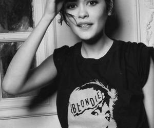 audrey tautou, black and white, and blondie image
