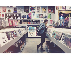 music, girl, and vintage image