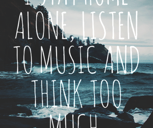 music, think, and alone image