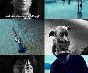 harry potter, dobby, and sad image