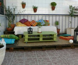 pallet table, outdoor pallet table, and diy pallet table image