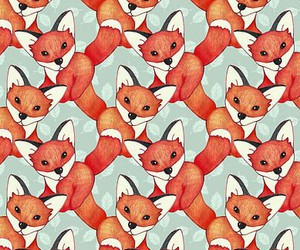 fox, background, and wallpaper image